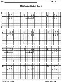 2-digit Multiplication