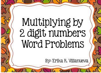 2 digit Multiplication Word Problem Scoot