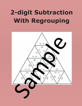 2-digit Subtraction With Regrouping – Math puzzle