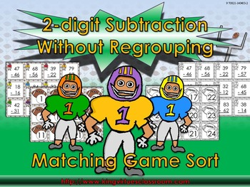 2-digit Subtraction Without Regrouping Matching Game Sort