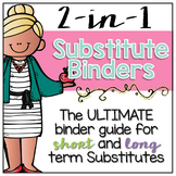 2-in-1 Editable Substitute Binders { for Short and Long Te