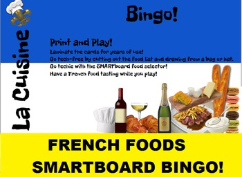 French Food SMARTboard Bingo and SMARTboard Food Selector;