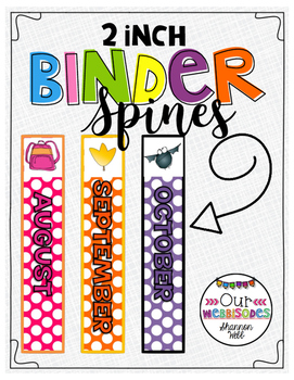 2 inch Monthly Binder Spines