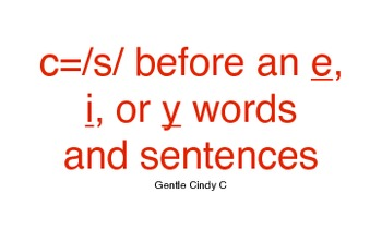 2 sounds of c words and sentences