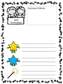 2 stars and a wish assessment - editable