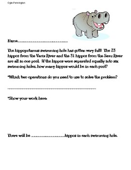 2 step addition/division word problem