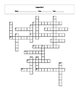 20 Answer Cosmos: A Spacetime Odyssey Episode 5 Crossword