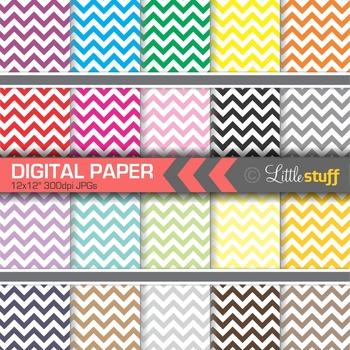 20 Chevron Digital Papers, Chevron Digital Backgrounds
