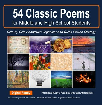 POETRY POWER: 30 Classic Poems w/Annotation Organizer and