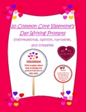 20 Common Core Valentine's Day Writing Prompts