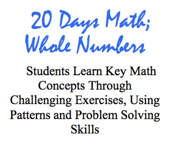 20 Days Math: Whole Numbers, An Introduction