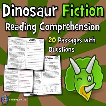 20 Dinosaur Reading Comprehension Passages: Close Reading