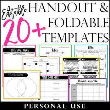 20+ Handout and Foldable Templates