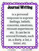 Writers Workshop:  Journal Writing - 20 Journal Writing Prompts