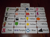 20 Laminated Daycare Colors Flash Cards.  Preschool Pictur