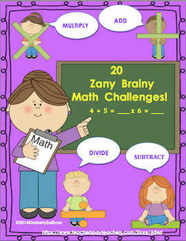 Morning Work  Math Challenges  Add Subtract Multiply Divide