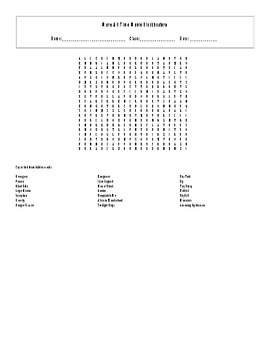 20 More All Time Movie Box Office Blockbusters Word Search