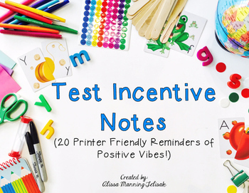 20 Motivational Test Notes (Incentives)