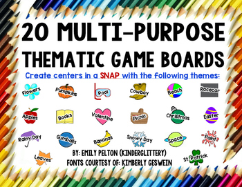 20 Multi-Purpose Board Games (Low-Prep Centers for All Thi