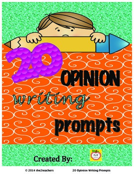 Writers Workshop:  Opinion Writing - 20 Opinion/Persuasive