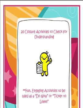 20 Quick, Fun Closure Activities