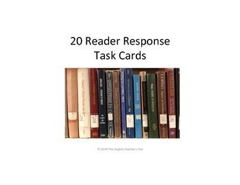 20 Readers Response Task Cards