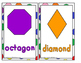 20 Shapes Flascards and Coloring Cards