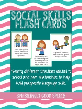 20 Social Skills Flash Cards to Build Pragmatic Language
