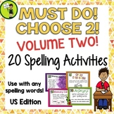 20 Spelling Activity Task Cards VOLUME 2 - Print and Go St