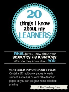 20 Things I Know About My Learners