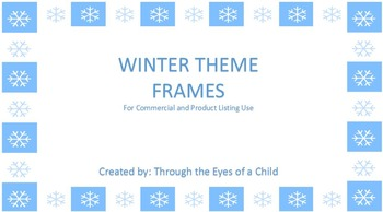 WINTER FRAMES set of 20!