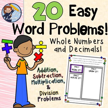 20 Word Problems for Whole Numbers and Decimals
