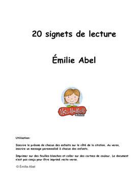 20 signets de lecture
