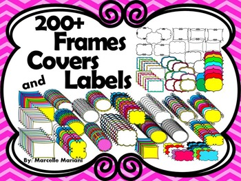 200+ Doodle Covers, borders & Labels- Personal & Commercial Use