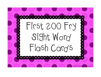 200 Fry Flash Cards - Pink