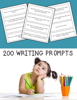 Writing Prompts {200!} for Literacy Centers, Writing Cente