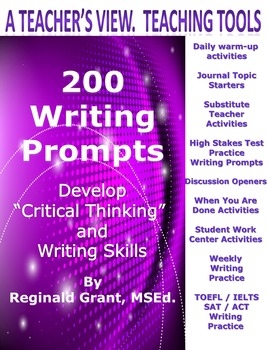 "200 Writing Prompts ""Develop Critical Thinking & Writing Skills"""