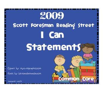 """2009 Common Core """"I Can"""" Reference Pages and Cards Units 1"""