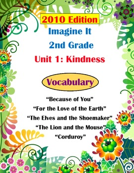2010 Edition Imagine It Grade 2 Unit 1 Kindness Vocabulary