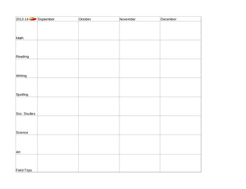 2013-14 Year-Long Planning Template