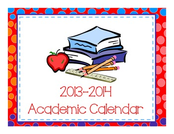 2013-2014 Academic Calendar-Polka Dot