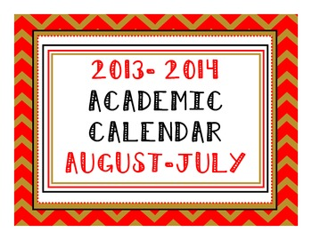 2013-2014 Academic Calendar - Sock Puppet Colors