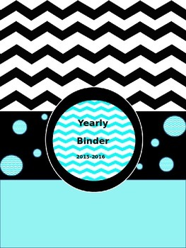 2013-2014 Editable Yearly Binder and Pennant(blue/black chevron)