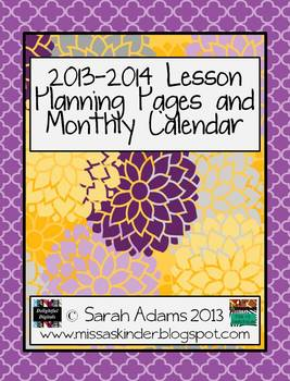 2013-2014 Lesson Plan Book Pages