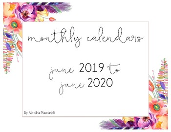 2016 - 2017 Monthly Calendars {April 2016 - July 2017}
