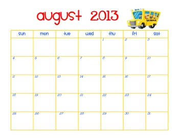 2013-2014 Monthly Calendars- Plan Your Year in Style!!