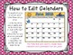 2016-2017 EDITABLE Monthly Planning Calendars {color & bla