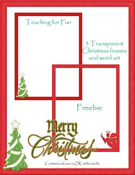 2013 Christmas Transparent Frames 8.5 by 11