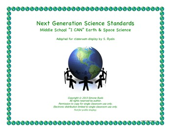 Middle School I CAN Next Generation EARTH SPACE Science St