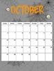 2013/2014 Seasonal Binder Folder Calendar Portrait 8.5 x 11